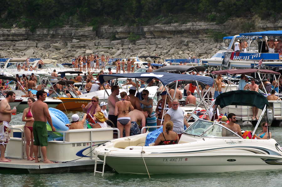 Duboard on Luxury Lake Travis Boat Rentals