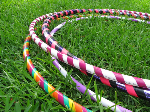 Hoops in the grass