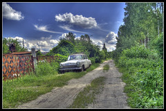 Old-timer (anton khoff) Tags: auto sky tree nature car clouds canon vintage automobile lane oldtimer oldcar 1022mm hdr volga  canonefs1022mmf3545usm pobeda canon1022mm
