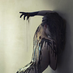 tally (brookeshaden) Tags: selfportrait wall mess paint sauce mark chocolate drip prison wait despair tally brookeshaden texturebylesbrumes