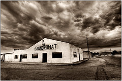 Wicked Laundry (Extra Medium) Tags: storm abandoned clouds desert hdr ridgecrest