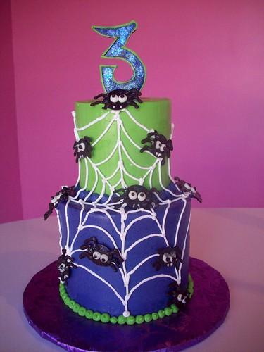 baby spider halloween cake