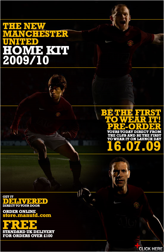 Manchester United 2009-10 home kit teaser