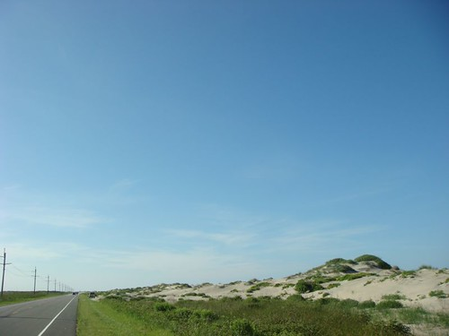 Cycling along the Hatteras Island, North Carolina.