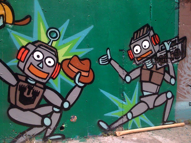 Dancing Robots Make Me Happy by marianne1123 (Flickr)
