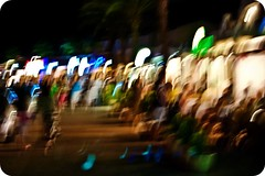 ~ The Crowd ~ (Komatoes) Tags: longexposure people en abstract island restaurant town spain nikon crowd explore spanish bosch menorca cala balearic 351 d40 nikond40