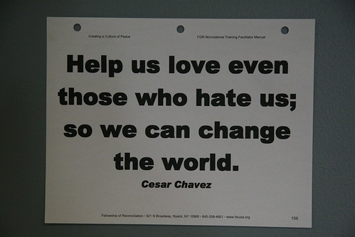 Help us love even those who hate us; so we can change the world. - Cesar Chavez