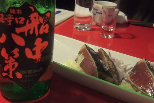 Tsukasabotan and katsuo-no-tataki from Kochi