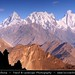 Pakistan - Lonely traveler overlooking Karakoram Range
