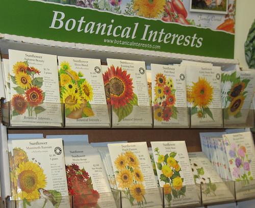 botanical interests sunflower seed varieties