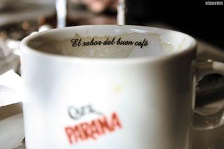 El sabor del buen café + Una grata compania = Un buen safari =)
