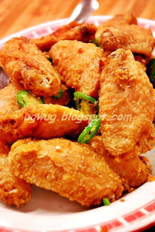 Fried Chicken Wings with Salt & Hot Pepper