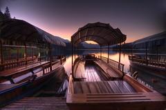 Bled sunrise (Bas Lammers) Tags: sunrise canon boat europe explorer slovenia bled hdr photomatix 50d mywinners magicunicornverybest mygearandmepremium mygearandmebronze mygearandmesilver
