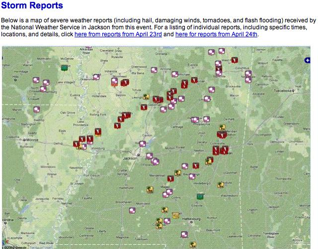 4-24 Mississippi storm reports