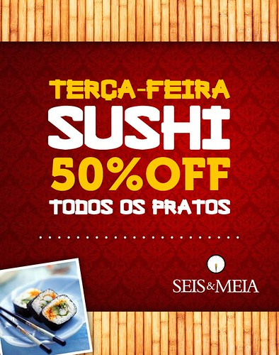 Sushi - Seis & Meia by chambe.com.br