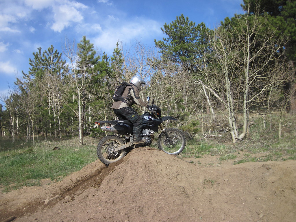 Jay messing around on Kelsie's DRZ