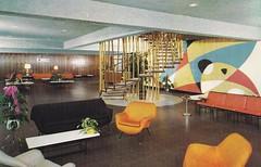 Schenk's Hotel Lobby - New York (hmdavid) Tags: newyork modern vintage hotel design furniture postcard resort catskills midcentury borschtbelt southfallsburg schenkshotel