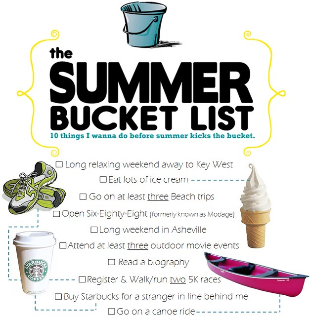 2011 summer bucket list