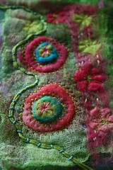 Pinks and Greens embellisher play (jillyspoon) Tags: pink abstract green thread felted canon circle eos design felting handmade embroidery circles creative craft felt textile cotton sample imagination embroidered embellished handstitched concentric whimsical textileart pinkandgreen scrim couching needlefelted embellisher 450d openweave canon450d needlefeltingmachine whimsicalstitch jillyspoon