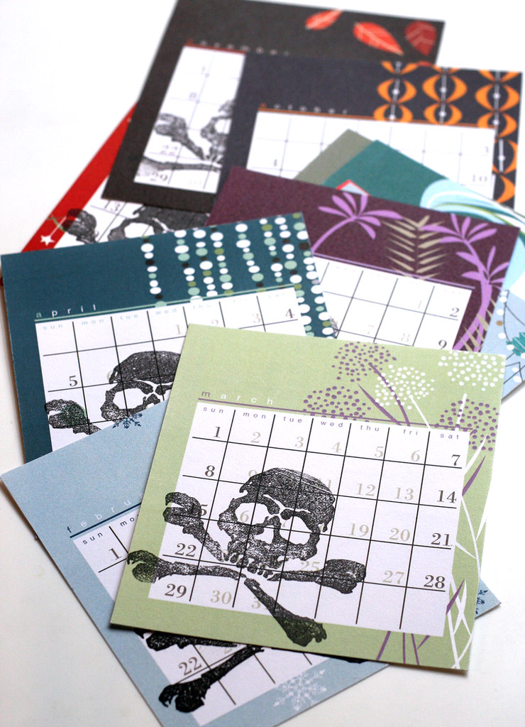 Skullified calendar pages