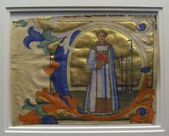 Initial C with Saint Lawrence  by Don Simone Camaldolese (peterjr1961) Tags: nyc newyorkcity newyork art museum medieval themet metropolitanmuseumofart medievalart