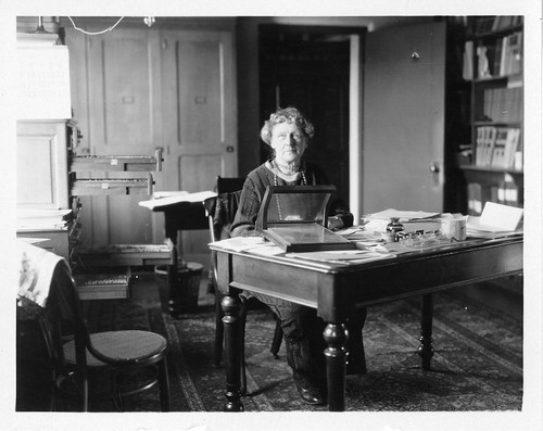 Annie Jump Cannon (1863-1941), sitting at desk, Unidentified Photographer, early- to mid-20th centur