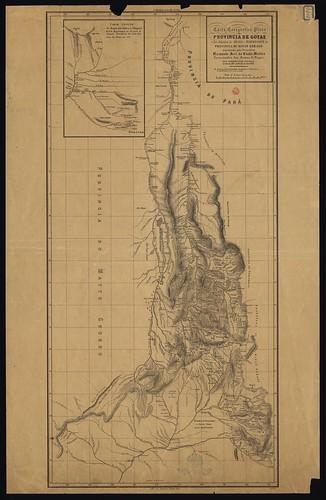 Carta corografica da provincia de Goyaz e dos Julgados de Araxá e desemboque da provincia de Minas Geraes