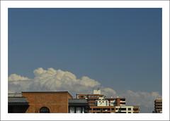 Cotton clouds (LinoPhilippe) Tags: chile santiago cloud clouds nikon nuvole nuvola nubes nuvens nikkor nuage nuvem d60 chmury chmura volke 1855mmf3556gvr