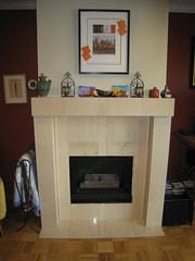 Fireplace without doors