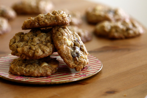 Oatmeal Cherry White Chocolate Cookies