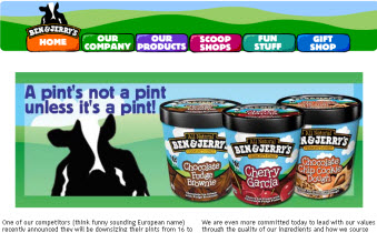 Ben And Jerry's HomePage