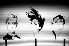 Our Idols (nathanielperales) Tags: street wall outside three losangeles alley women garage canon5d canonef50mmf14 laphotocontest09