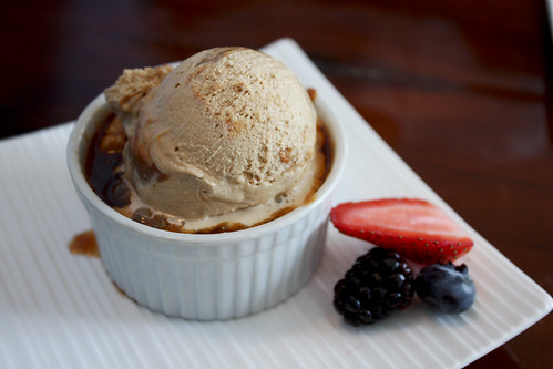 Bread Pudding with Dulce de Leche Ice Cream