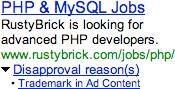 Google Bans MySQL Ads