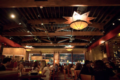 Z-Tejas (todd*) Tags: wood people dinner restaurant lowlight eating crowd ceiling chandelier talking chandler goodeats beams noisy ztejas ambiance