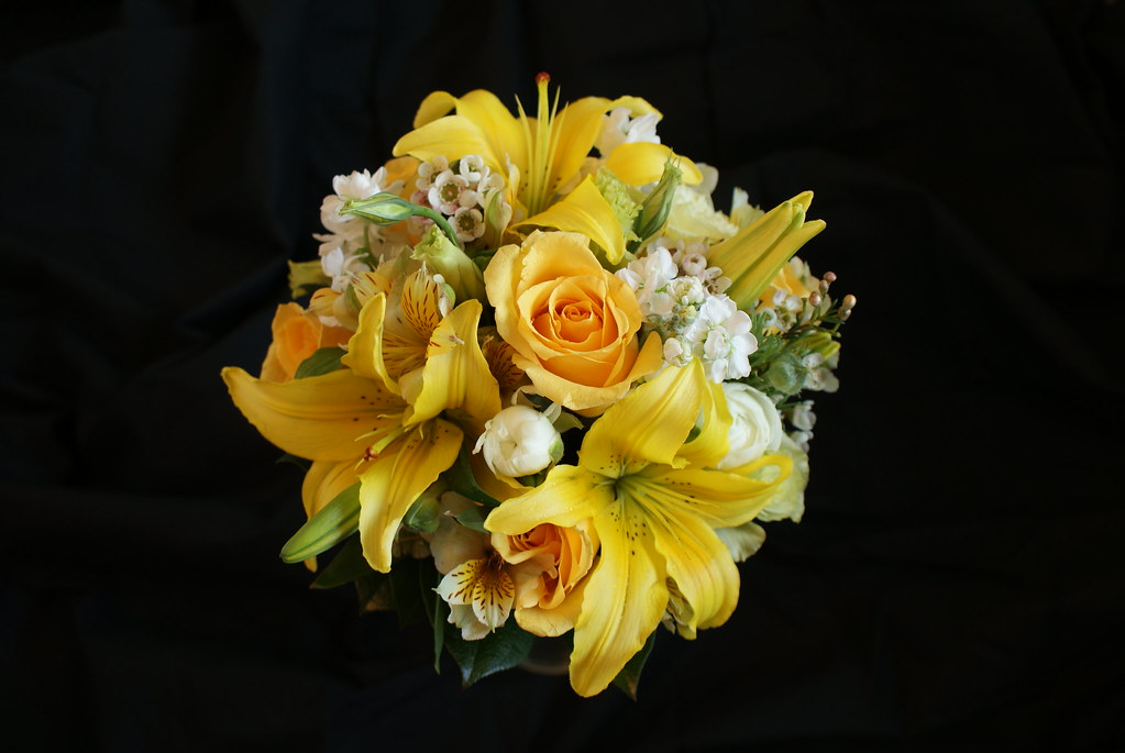 Bride's Yellow Bouquet