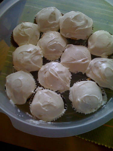 Lemon honey cupcakes