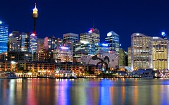 A Darling Harbour view - Sydney (kees straver (will be back online soon friends)) Tags: ocean city longexposure travel bridge trees sea sky cloud house holiday reflection tree green beach nature water field grass skyline architecture night clouds canon river landscape lights countryside interestingness sand opera rocks waves cityscape harbour sydney australia powershot nsw newsouthwales darlingharbour pyrmont operahouse modernarchitecture sydneytower sydneyaquarium mywinners refelcion keesstraver reflectionsofacity mydarlingharbour