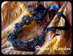 SNV32777 (Nanci Helena Marchon) Tags: fashion vintage collier beads moda bijuteria pop retro collar colar colliers romantico contas necklaces fita collares trama acessrios cetim bijouteria argolas bijuterie entrelacamento