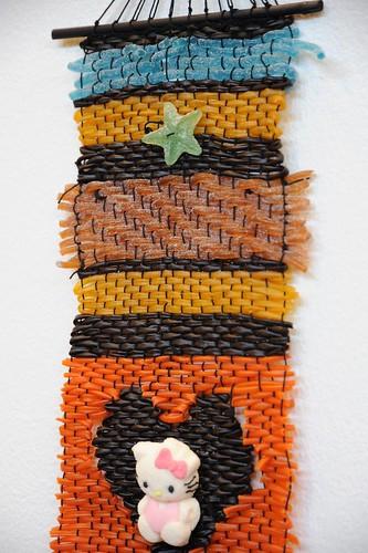 お菓子でできた裂き織り