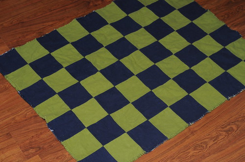 GLOW IN THE DARK Owl Rag Quilt