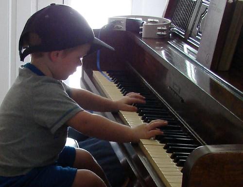 Gavin on piano