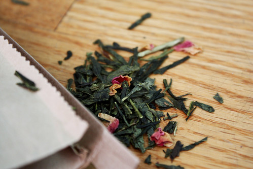 Sencha Kyoto Cherry Rose Tea Leaves