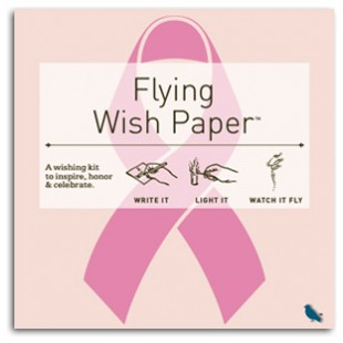 Flying Wish Paper Breast Cancer