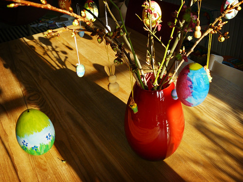 Easter eggs on Easter branches