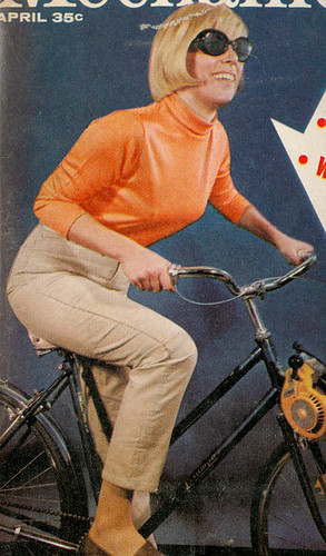 Oddly Posed Bicycle Lady