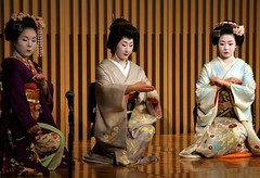 geishaparty 2 (filmmaker in japan) Tags: party dance kyoto maiko geisha wig kimono obi roger walch rowmuse mayuha