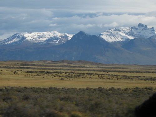 driving out from El Calafate