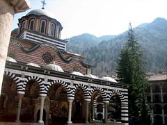 Looking up (peterme) Tags: sofia monastery rila
