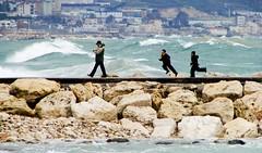 Racing the Waves (M. Sakakini) Tags: lebanon jbeil sonydsch5